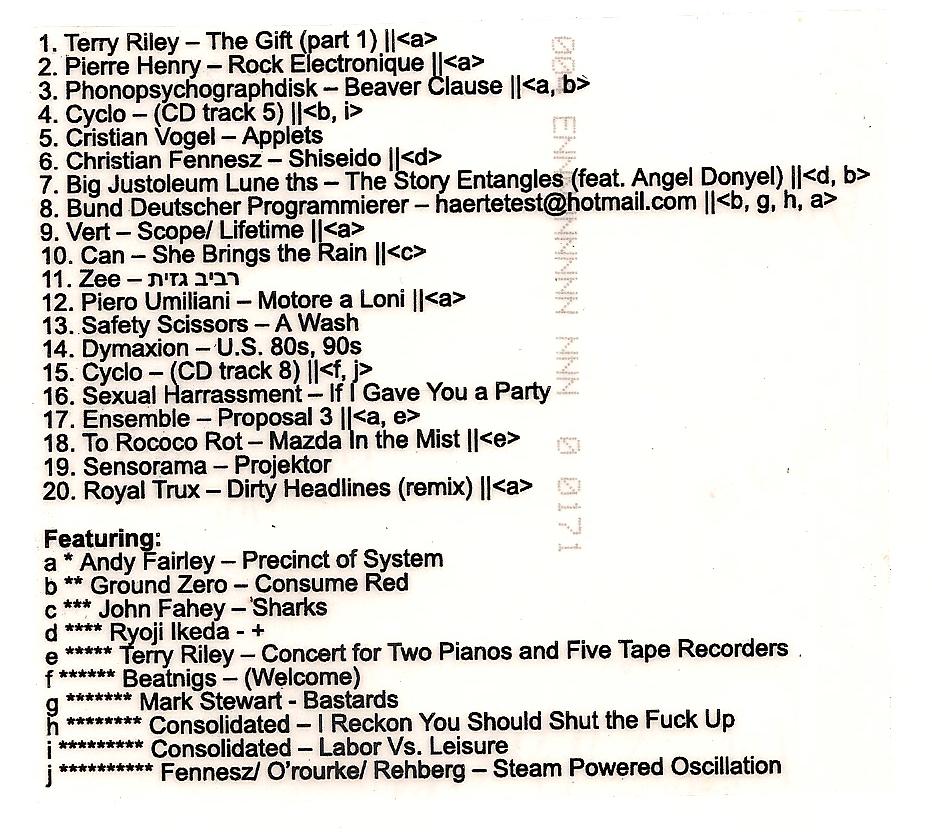 dj finkelstein tracklist